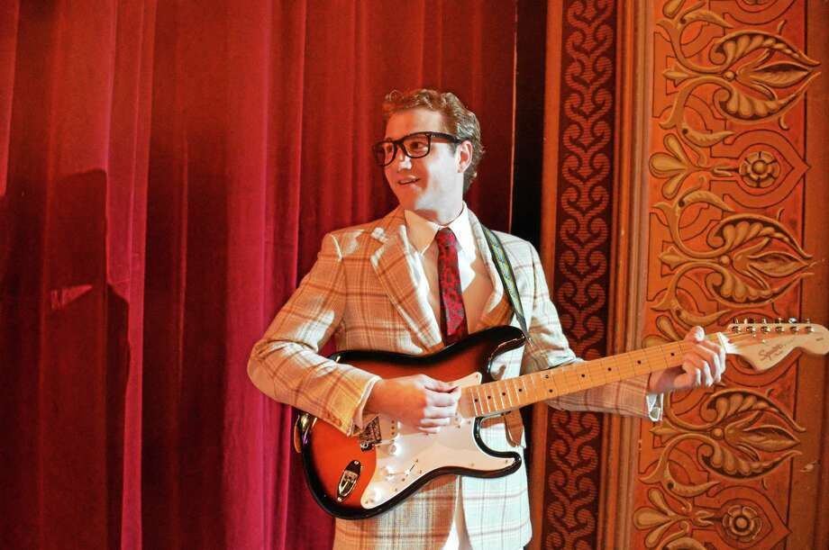 Photo by Kate K Luurtsema Rob Girardin as Buddy Holly in Landmark Community Theatre's upcoming production of Buddy: The Buddy Holly Story. Photo: Journal Register Co.