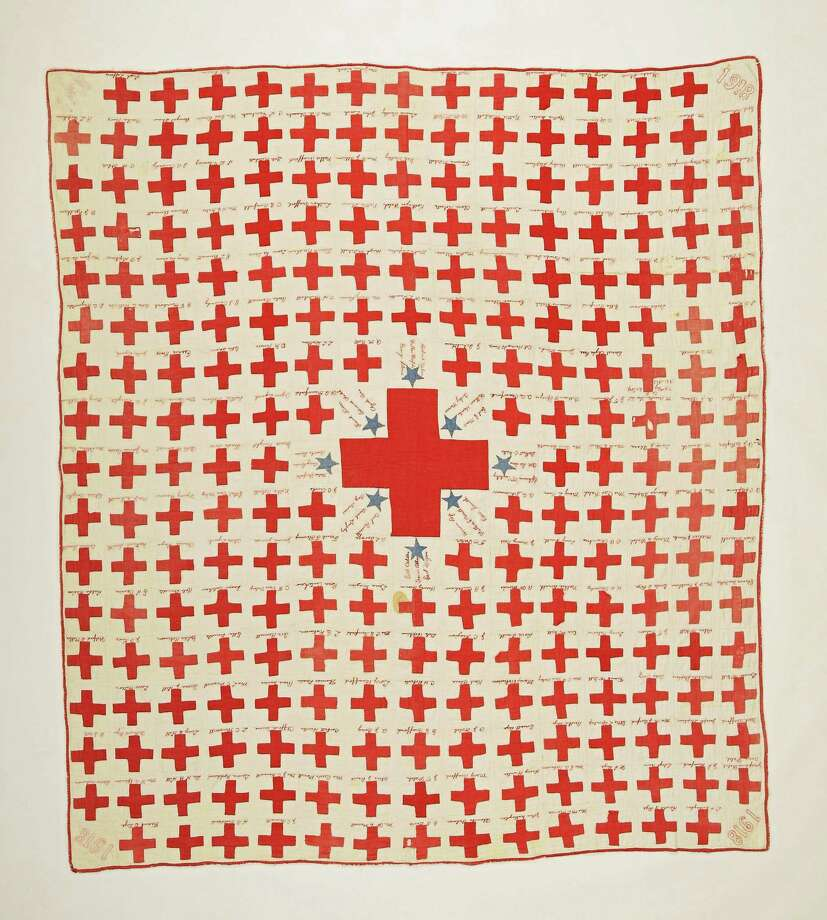 Images courtesy of Sue Riech A program on Quilts of World War I will be offered at the Gunn Memorial Library. Photo: Journal Register Co.