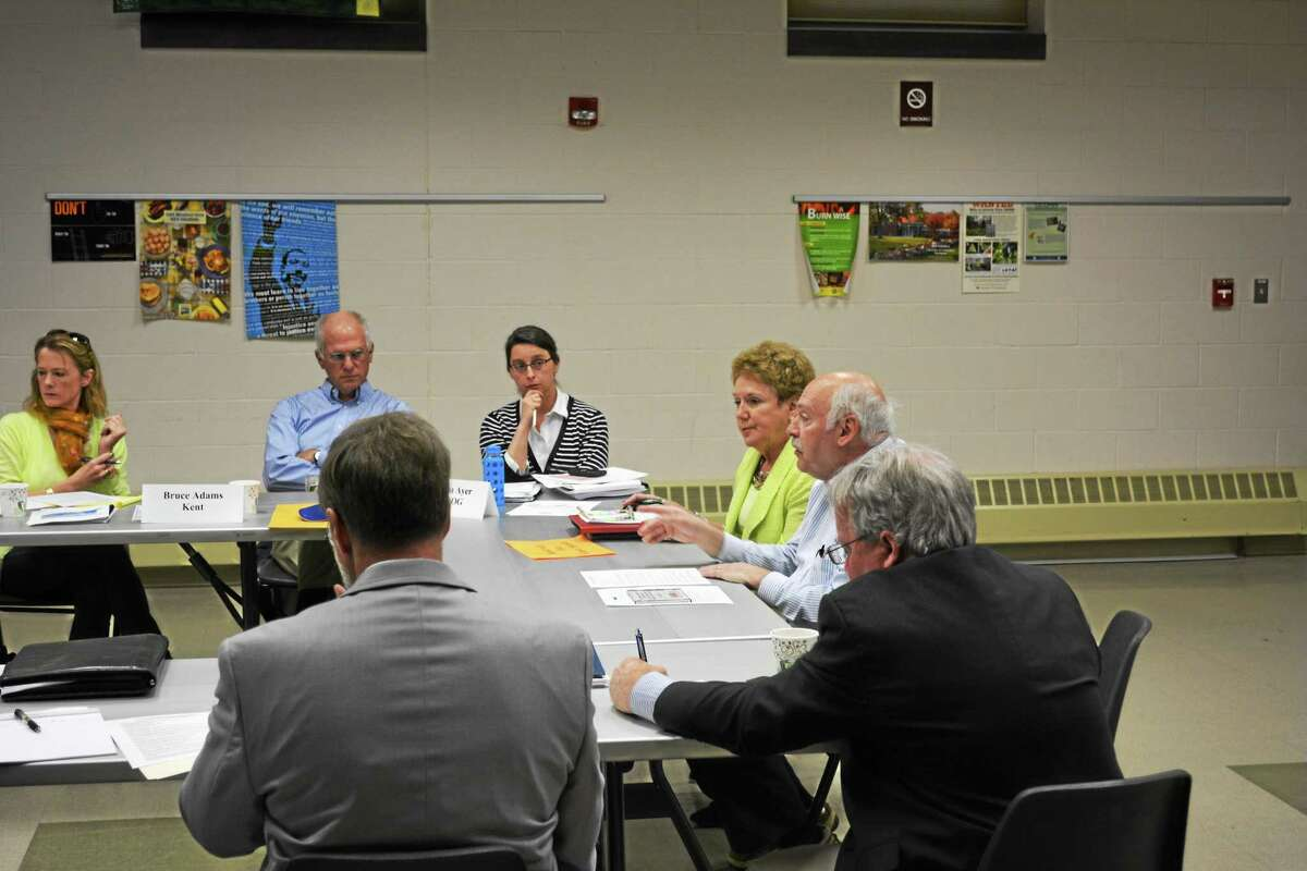 Doug Parker, executive director of the Northwest Connecticut Economic Development Corporation, talks economic development with the Northwest Hills Council of Governments members.