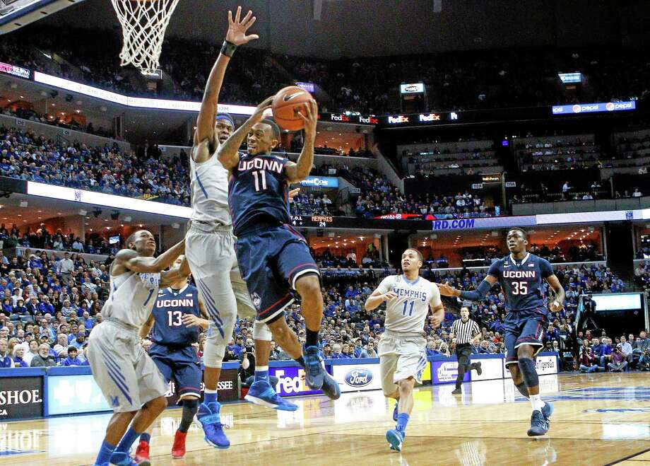UConn guard Ryan Boatright goes to the basket against in the first half of Thursday's game against Memphis. Photo: Lance Murphey — The Associated Press  / FR78211 AP