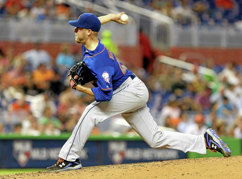 New York Mets starter Zack Wheeler pitches in the fifth inning of a 1-0 loss to the Marlins in Miami on Wednesday. Photo: Alan Diaz — The Associated Press  / AP