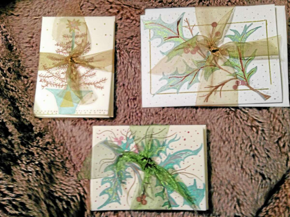 Samples of Amy Astruaskas' art that will be on display and for sale on Oct. 24 at Ciesco Services.