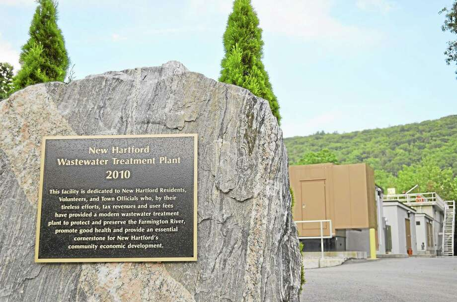 The New Hartford Wastewater Treatment Plant, which sits off of Route 44, as seen on July 18. Photo: Register Citizen File Photo