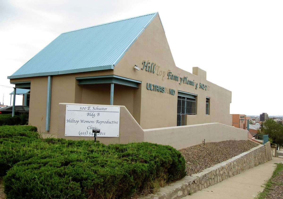 FILE - In this Aug. 11, 2014 file photo, the Hilltop Women's Reproductive clinic is photographed in El Paso, Texas.