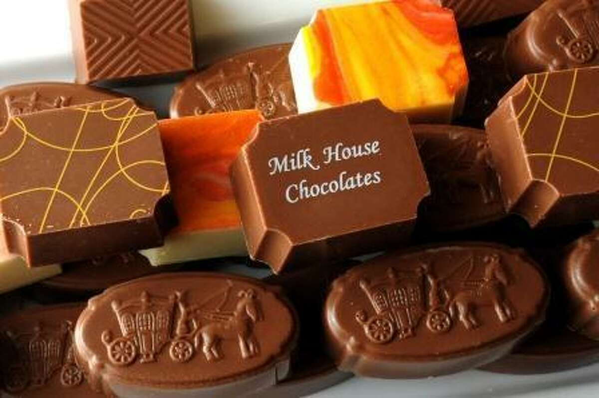 Laurie Gaboardi Artisan chocolates made by Kimberly Thorn at Thorncrest Farm & Creamery in Goshen from the milk of select cows at the farm.