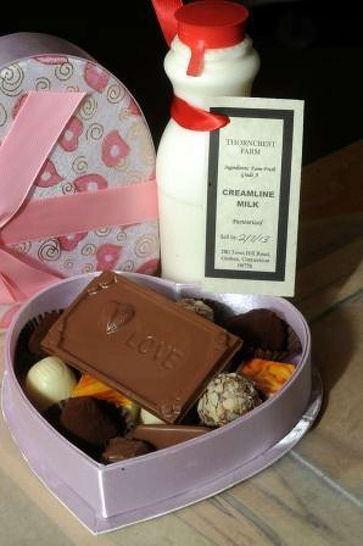 Laurie Gaboardi A gift option for Valentine's Day, and a bottle of the creamery's milk to go with it.