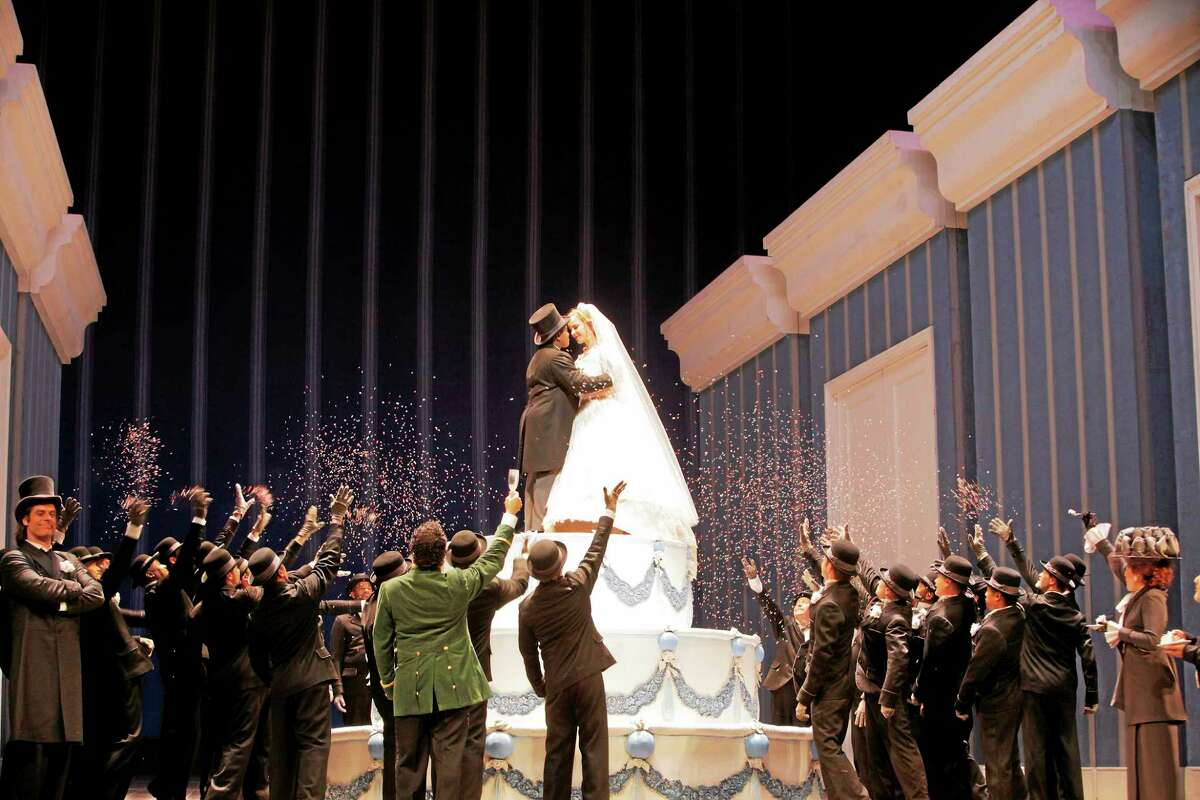 """Photo by Ken Howard La Cenerentola - A scene from Act II of """"La Cenerentola"""" at the Metropolitan Opera, being broadcast Live in HD at the Warner Theatre this weekend."""