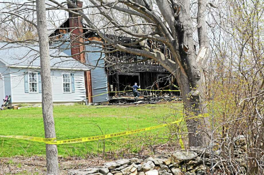 The remains of 191 East Street, Morris following a Tuesday night fire. The cause has yet to be determined. Photo: Jenny Golfin — Register Citizen.