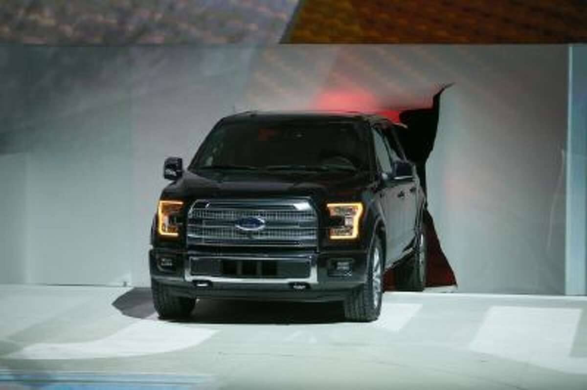 The new Ford F150 is introduced at the 2014 North American International Auto Show in Detroit on January 13, 2014.