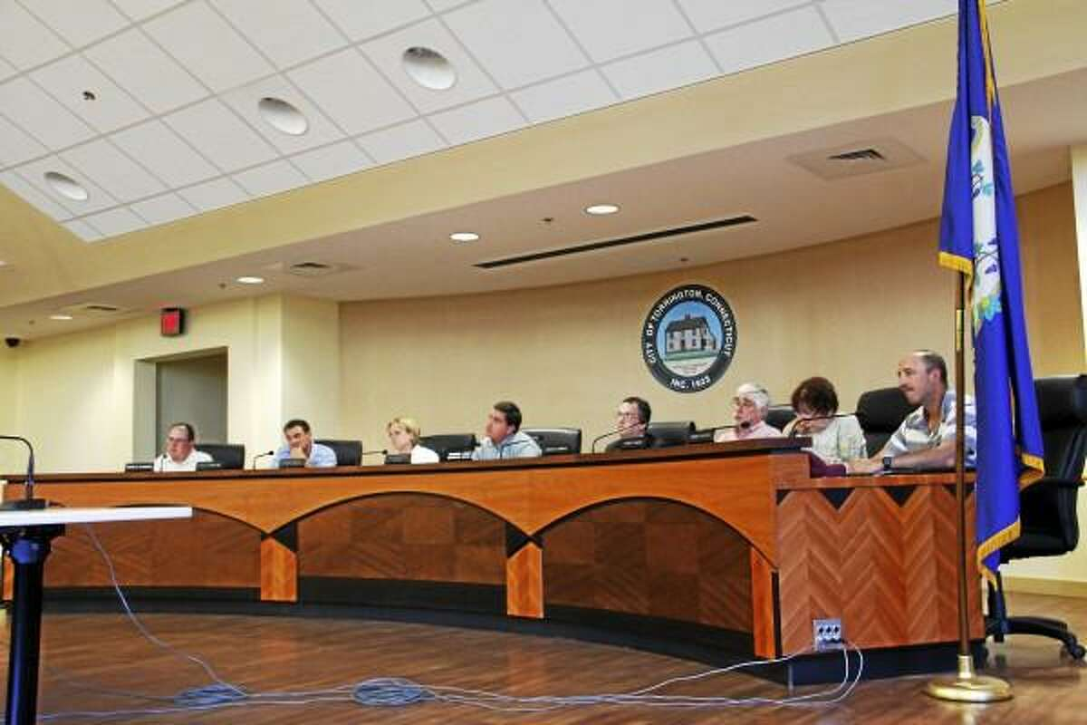 City Council members during a meeting on Monday, June, 2013. The council approved an animal control facility and a solar panel project at Forbes Elementary School, in addition to other agenda items. (Esteban L. Hernandez-Register Citizen)