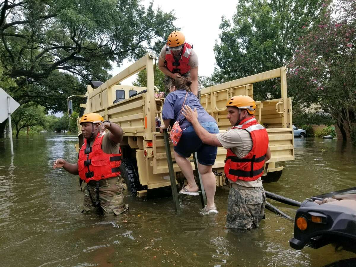 Texas National Guard soldiers arrive in Houston, Texas to aid citizens in heavily flooded areas from the storms of Hurricane Harvey. (Photos by Lt. Zachary West , 100th MPAD)