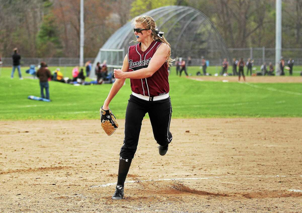 Torrington's Sydney Matzko struck out 14 Naugatuck batters, including her 1000th career strikeout in the Red Raiders' 3-0 win over Greyhounds.