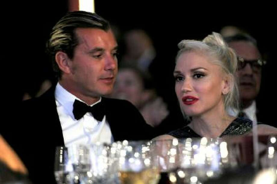 Musicians Gavin Rossdale, left, and Gwen Stefani attend the Wallis Annenberg Center for the Performing Arts Inaugural Gala on Oct. 17, 2013, in Beverly Hills, Calif.