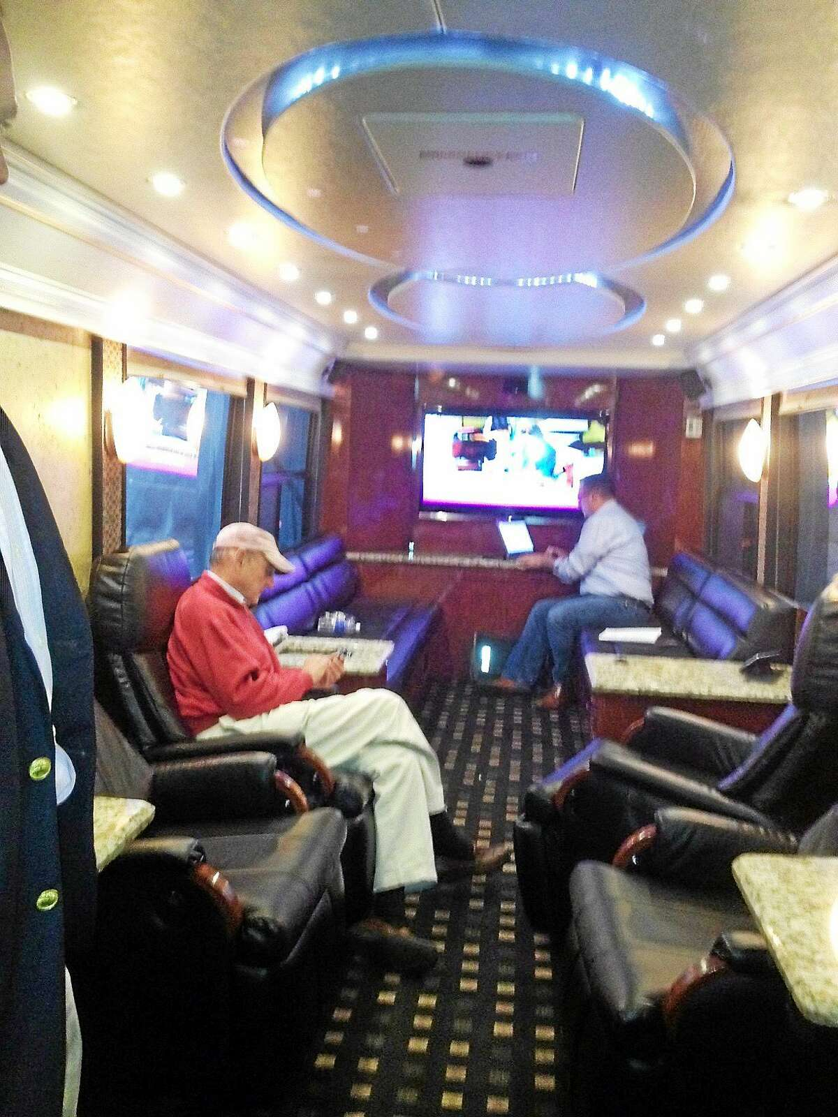 The Tom Foley campaign bus tour plan is to hit 25 towns through Monday.
