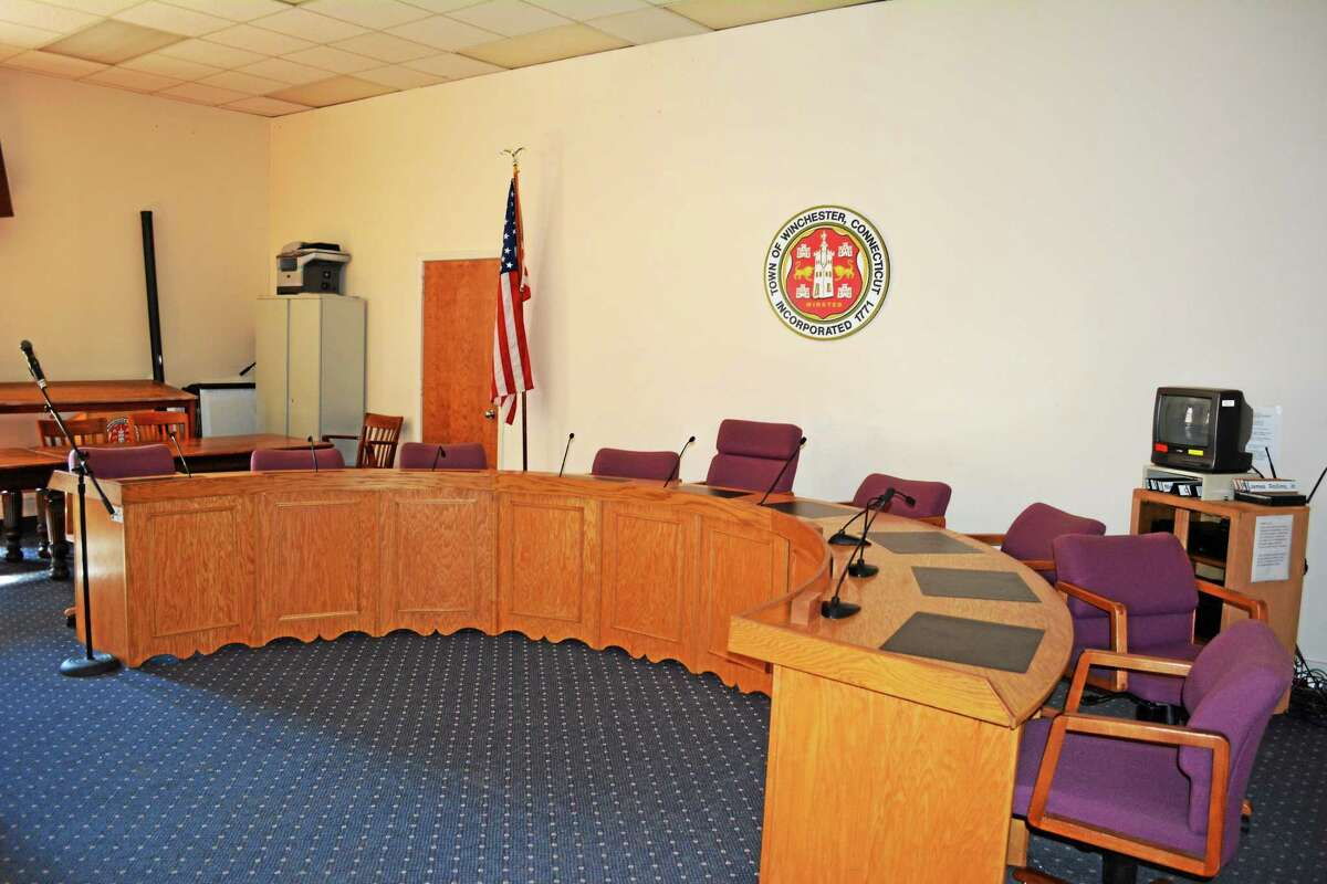 Ryan Flynn - Register Citizen Town boards including the Board of Selectmen hold their meetings in the P. Francis Hicks Room.
