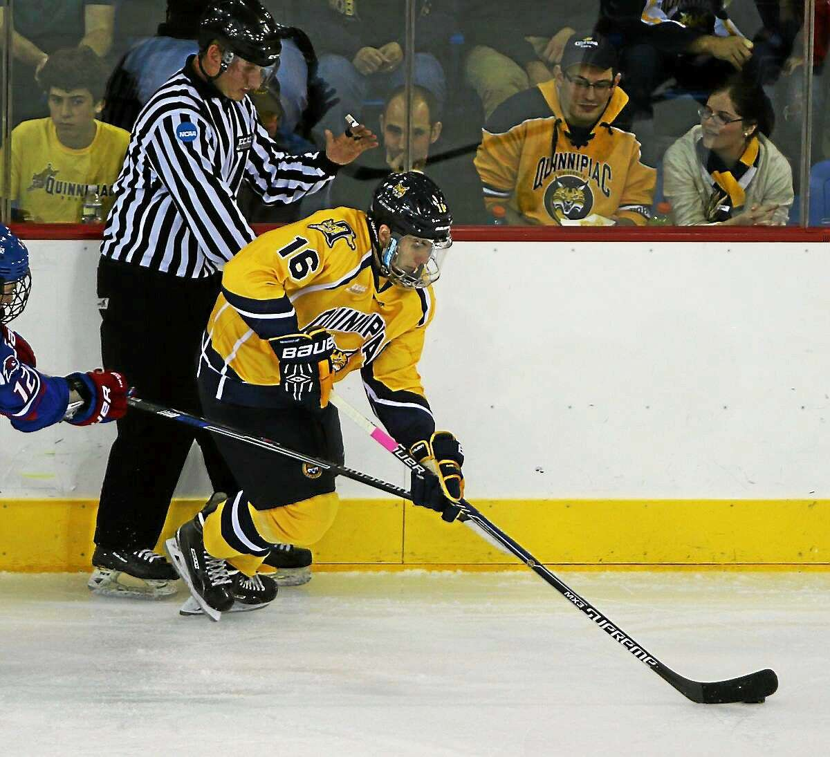 Quinnipiac freshman Landon Smith will be expected to pack a scoring punch for the Bobcats immediately.