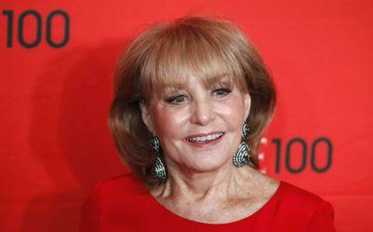 Television personality Barbara Walters arrives at the Time 100 Gala in New York, April 24, 2012. The Time 100 is an annual list of the 100 most influential people in the last year complied by Time Magazine.