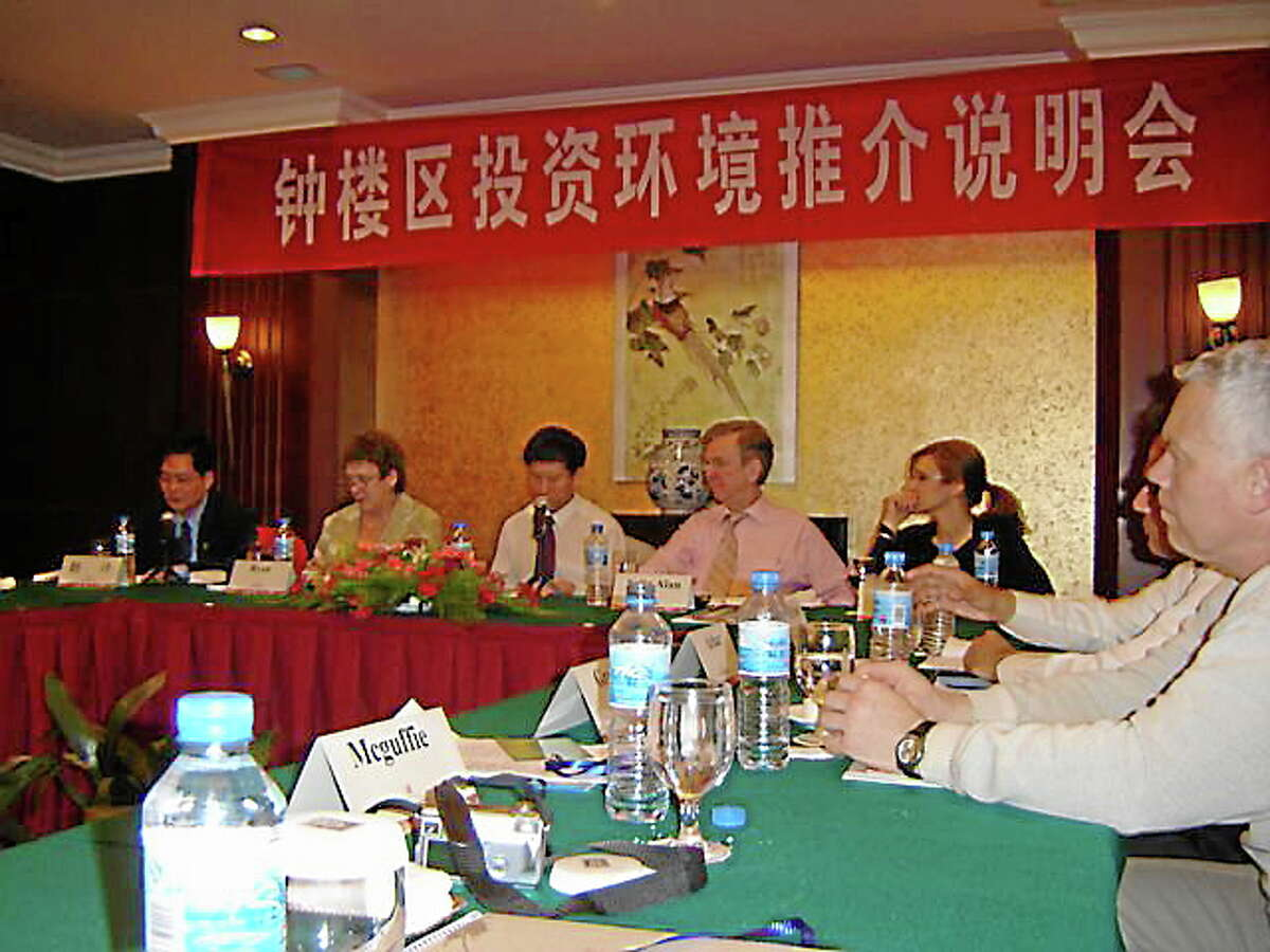 Members of Northwest Connecticut's Chamber of Commerce during a visit to China in 2006.