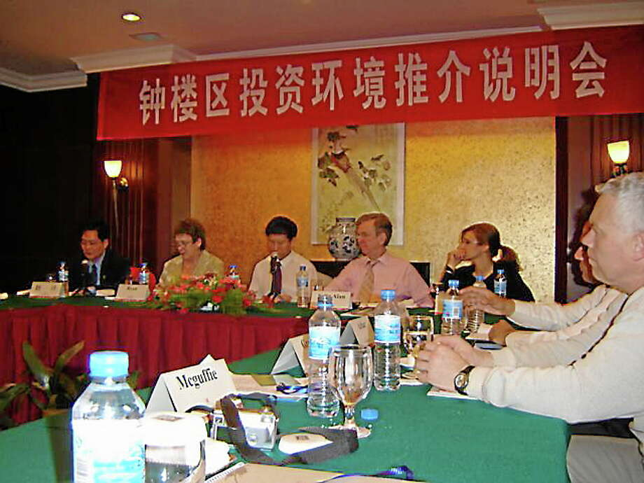Members of Northwest Connecticut's Chamber of Commerce during a visit to China in 2006. Photo: Contributed Photo