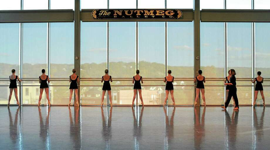 Submitted photo - Nutmeg Conservatory  Above, a pointe class with artistic director Victoria Mazzarelli, in the Premiere Studio of The Nutmeg Ballet Conservatory. Photo: Journal Register Co. / (c) DON PERDUE