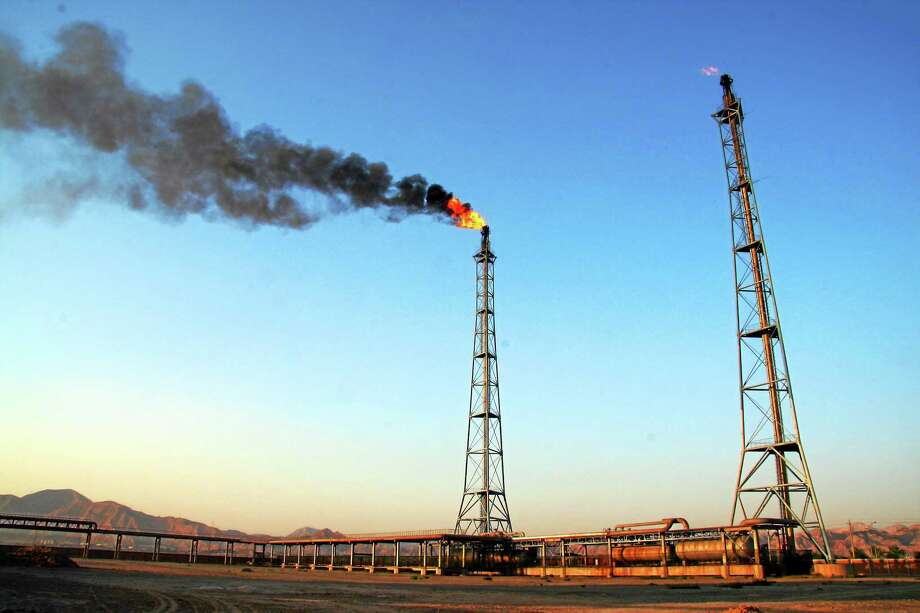 Gas is being burned off in this Creative Commons photo by Adam Cohn. Photo: Journal Register Co.