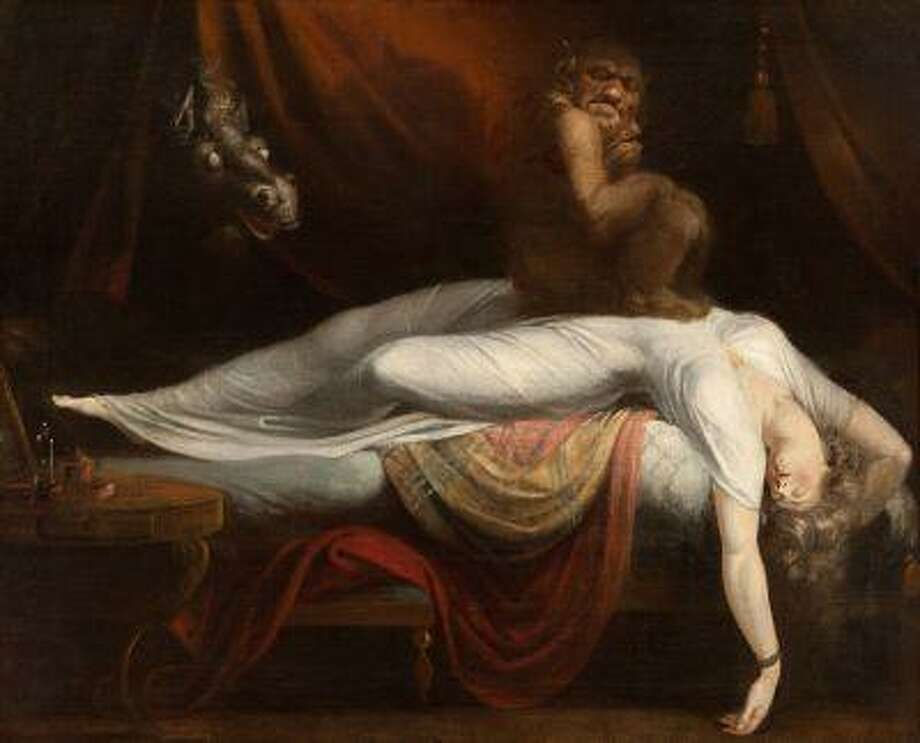 """Henry Fuseli's """"The Nightmare"""" is part of the exhibit """"The Angel of the Odd: Dark Romanticism from Goya to Max Ernst,"""" at the Musee d'Orsay in Paris."""