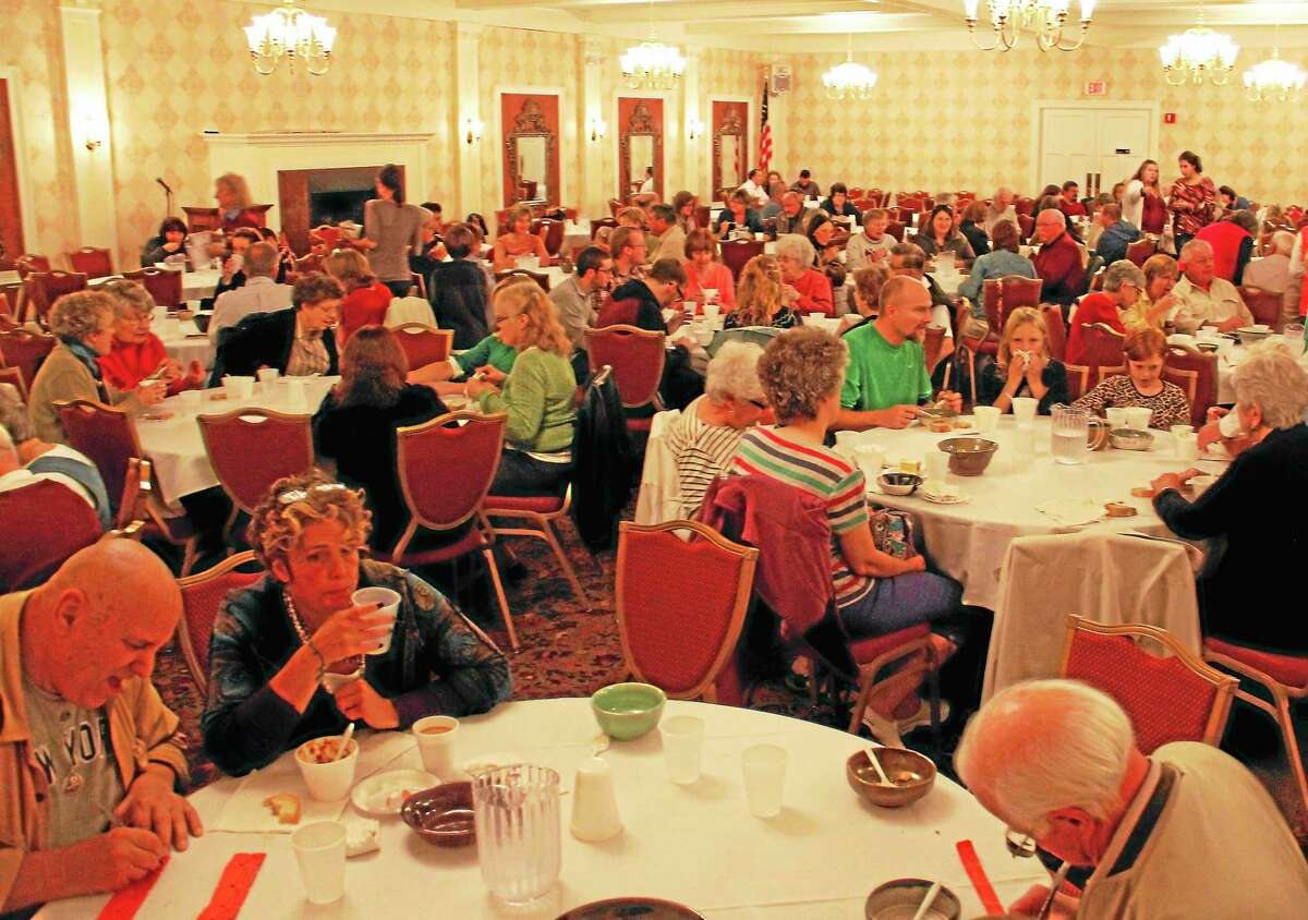Community members came to the annual Empty Bowls fundraiser to support the Community Soup Kitchen of Torrington on Wednesday at the Elks Lodge.