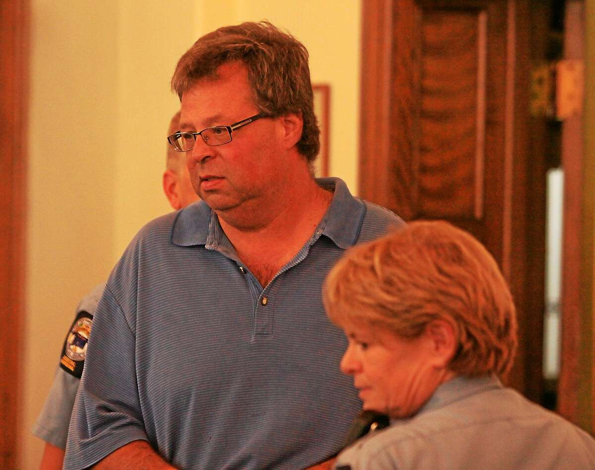 John McKenna-Pool photo-Republican American ¬ Former Winsted finance director Henry Centrella is arraigned in Litchfield Superior Court on first-degree larceny charges on Aug. 30, 2013.