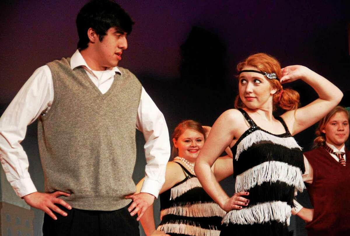Jazzmany Alvarez, a freshman, dances with Gabrielle Cianciolo, a junior.