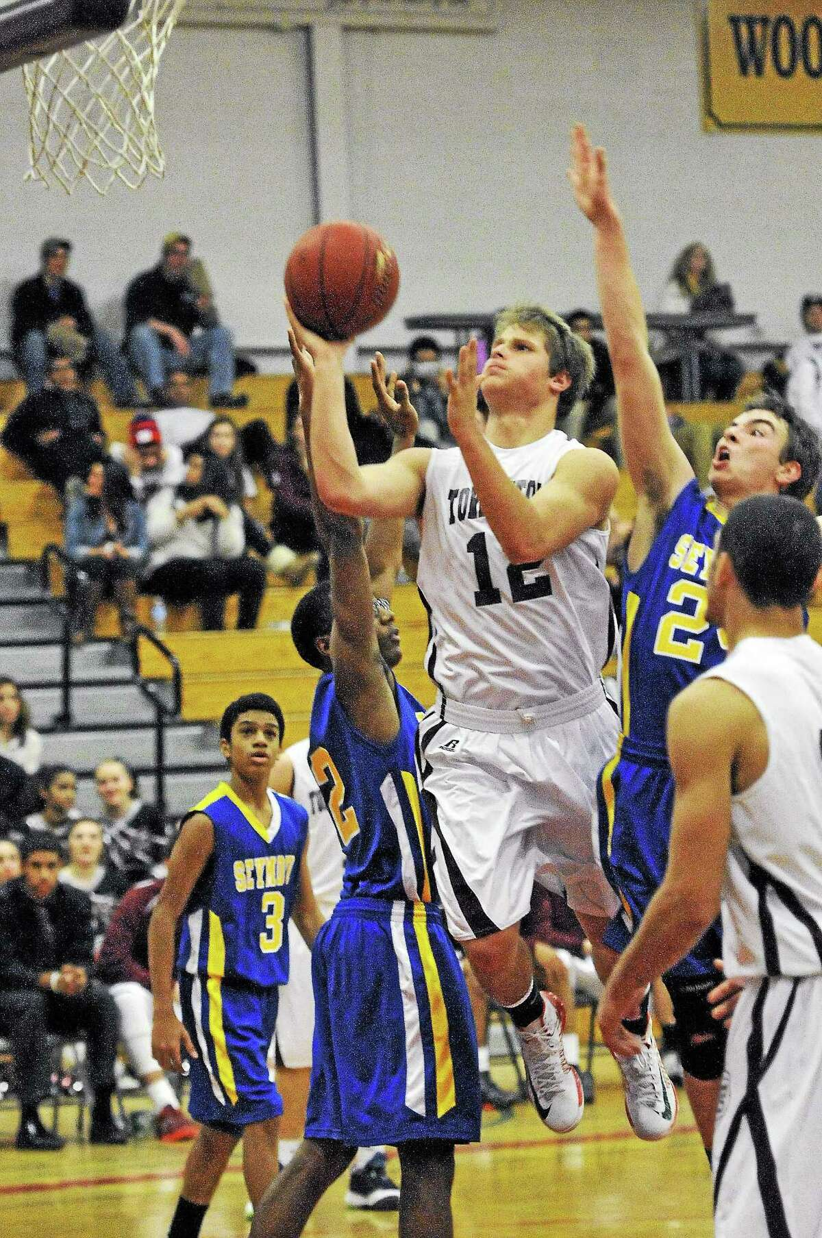 Torrington's Mitch Zagrodnik was also apart of the boys basketball where he averaged 11.5 points-per-game along with 6.7 rebounds a game.