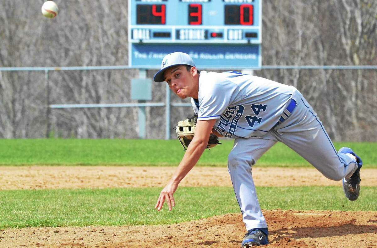 Lewis Mills' Gio Peraza-Santiago went six innings, allowing only three hits and struck out six batters.