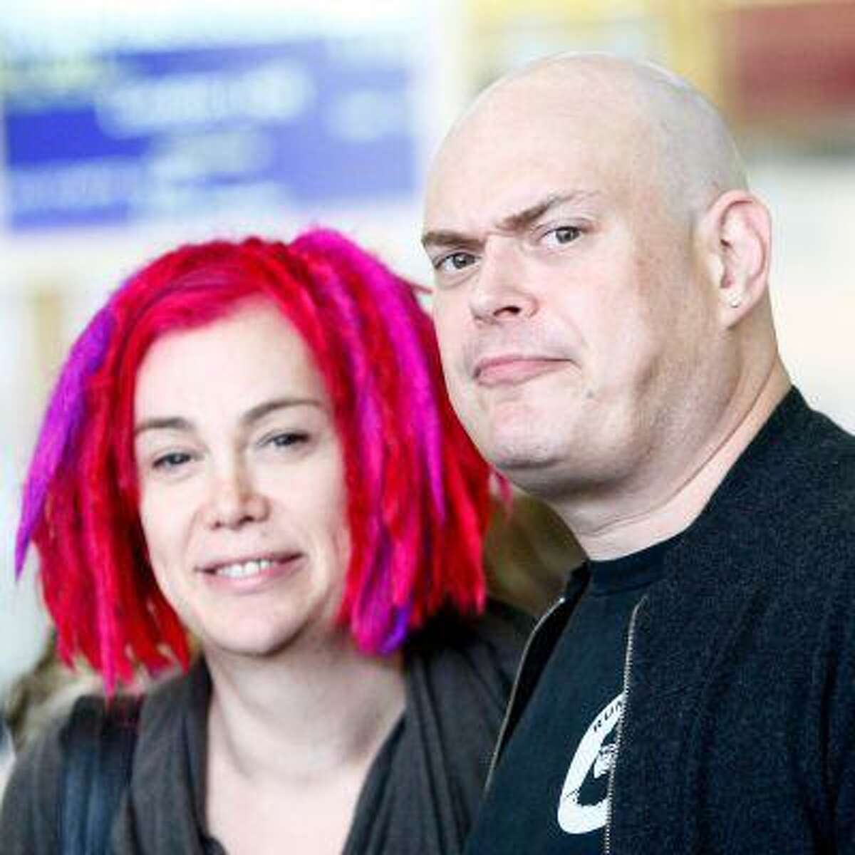 **Exclusive** Lana Wachowski and Andy Wachowski at Tegel Airport. Berlin, Germany - 07.11.2012 Credit: WENN.com