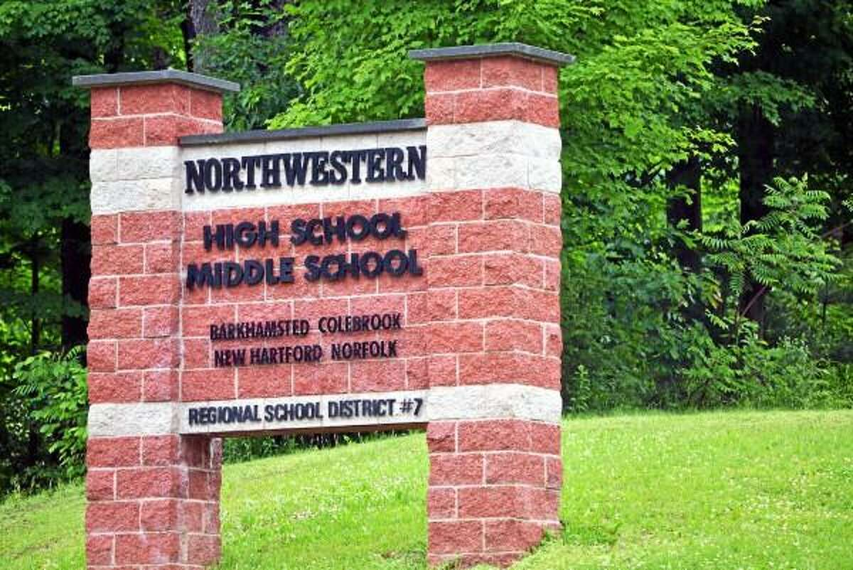 Northwestern High School in Winsted, where three students were cited for marijuana possession after a scheduled drug search Thursday, June 13. (Tom Caprood-Register Citizen)