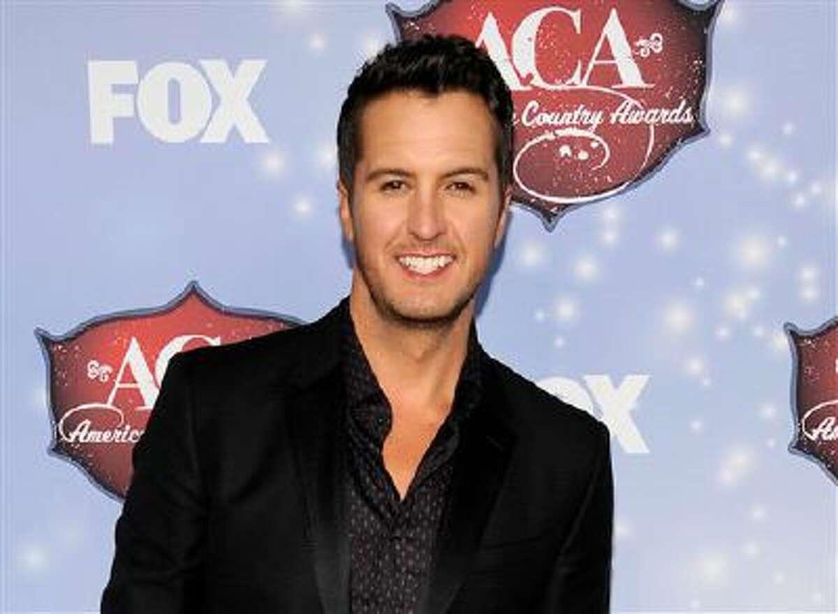 This Dec. 10, 2013 file photo shows Luke Bryan at the American Country Awards at the Mandalay Bay Resort & Casino in Las Vegas, Nev.