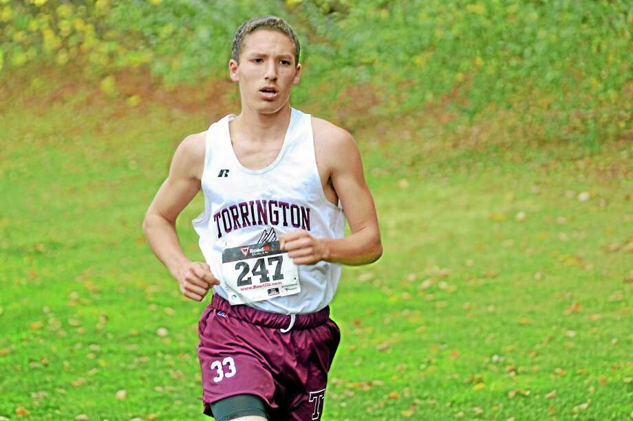 Torrington's Jon Pirla finished with a time of 16:33.95 which was good for fifth place overall and a spot on the All-NVL team. Photo: Pete Paguaga — Register Citizen