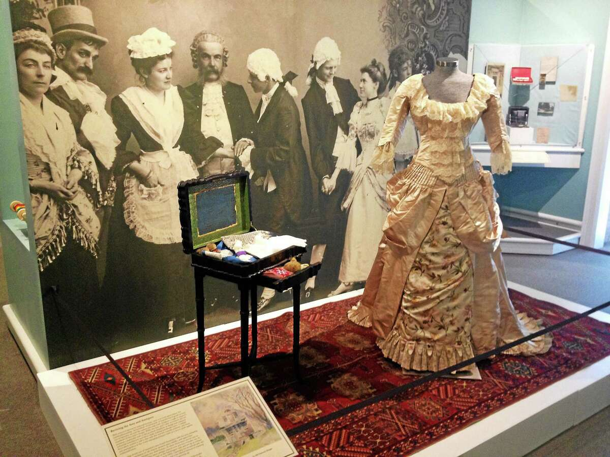 A display from ìThe Lure of the Litchfield Hillsî exhibit at the Lichfield History Museum on Saturday, May 3, 2014, in Litchfield. The exhibit explores the the town during its the Colonial Revival Movement of the late 1800s and early 1900s. Esteban L. Hernandez Register Citizen