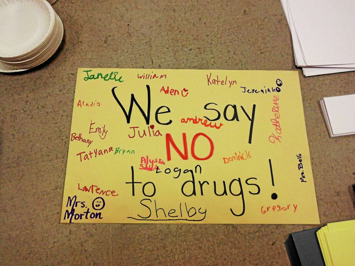 Posters created by children in Mary Morton's Fourth Grade class at Forbes School in 2013.