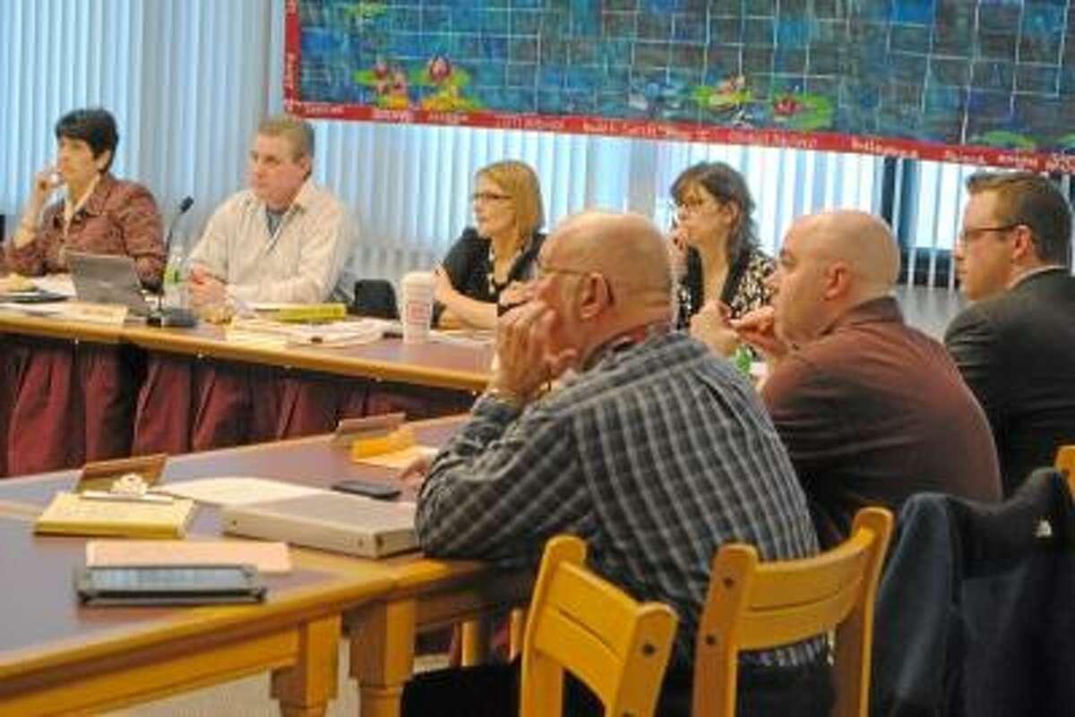 Jessica Glenza/Register Citizen -- Torrington Board of Education members hear department presentations.