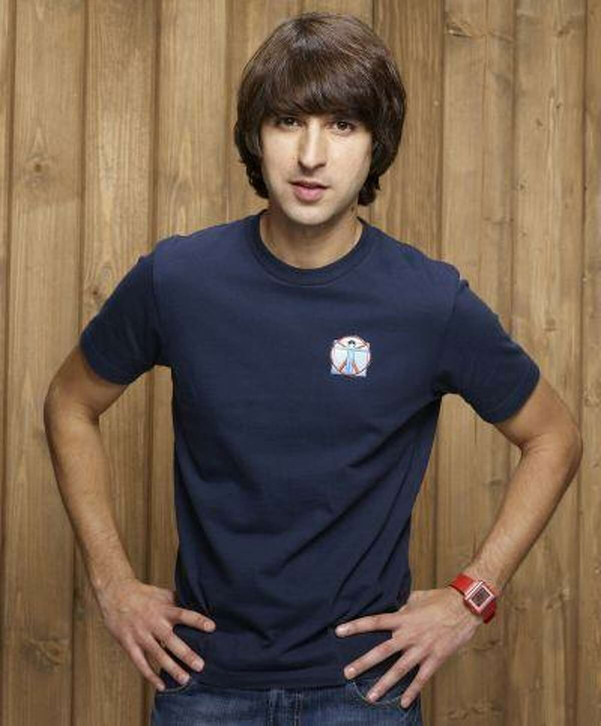 """Demetri Martin started integrating easel drawings into his stand-up and his two-season Comedy Central series, """"Important Things With Demetri Martin."""" His new """"Point Your Face at This"""" is 250-plus pages of Martin's simple line drawings. (Photo credit: Comedy Central)"""