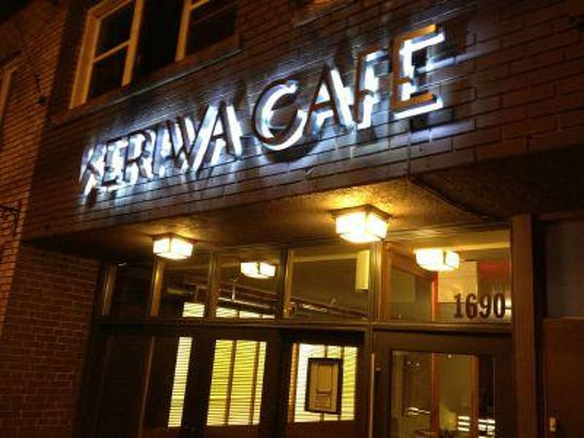 The exterior of Toronto's Keriwa Café, with authentic Canadian cuisine in an authentic space.