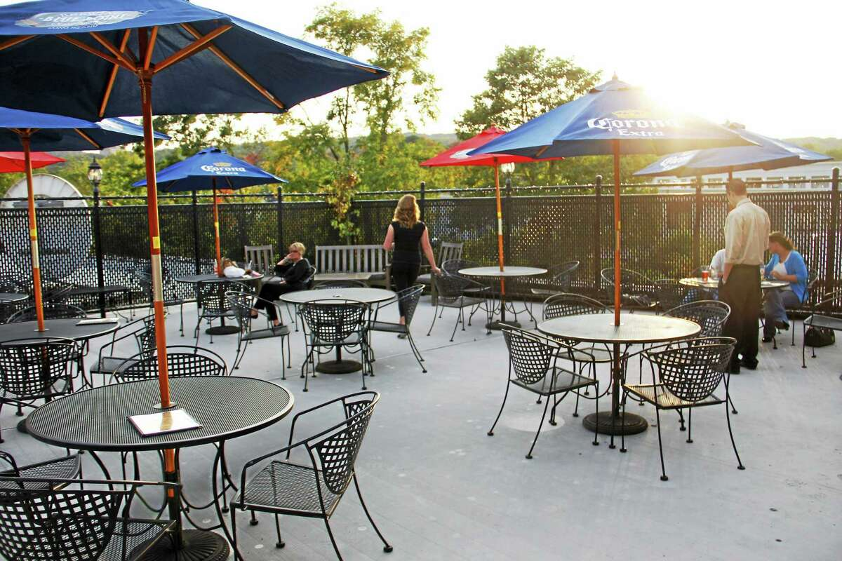 The rooftop patio at the Downtown Cafe on as seen in October 2013.