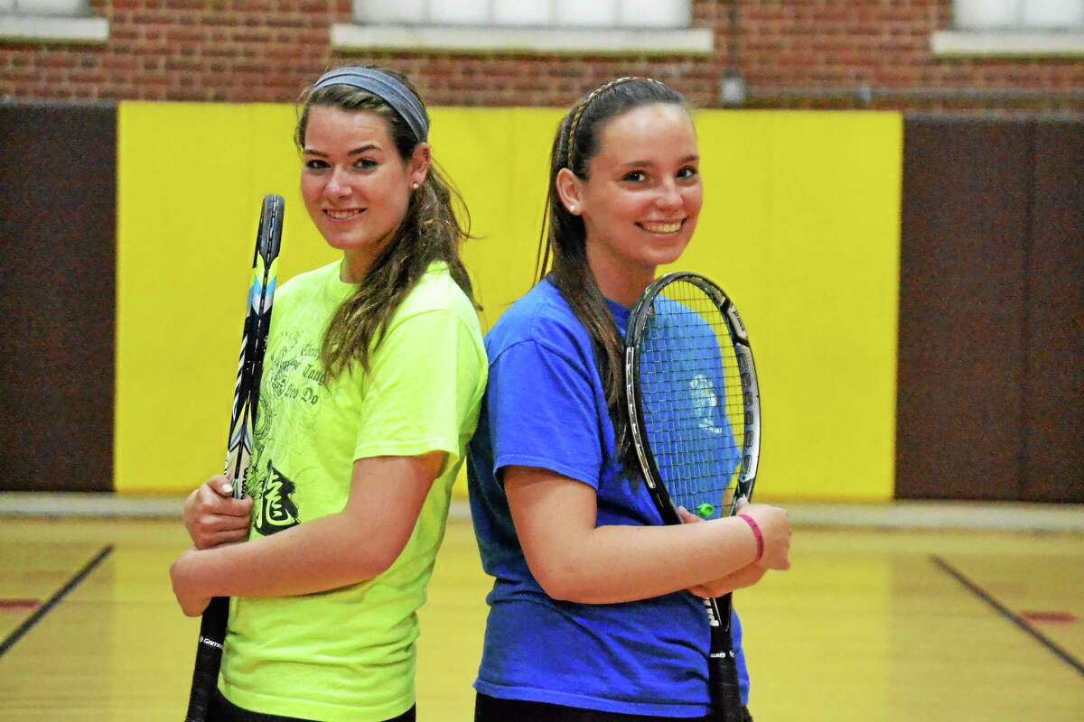 The top two singles for the Thomaston Golden Bears, Mackenzie Blair (left) and Megan Fitzgerald (right) form the best one two punch in the Berkshire League.