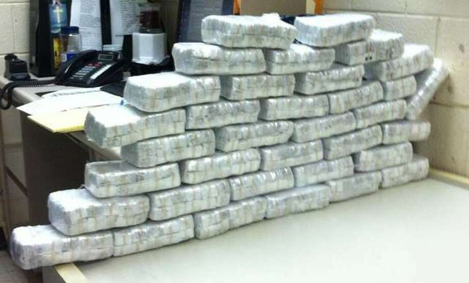 Approximately 34,500 bags of heroin were seized during a motor vehicle stop in Waterbury.