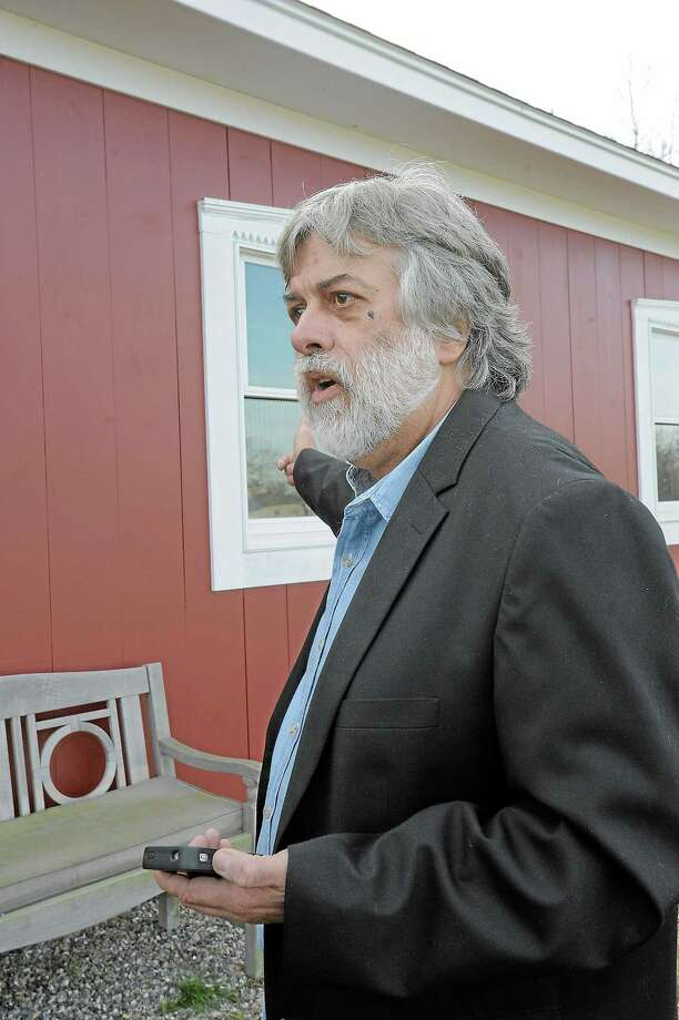Frederick Acker at his property in Bethlehem in 2012. Photo: Register Citizen File Photo