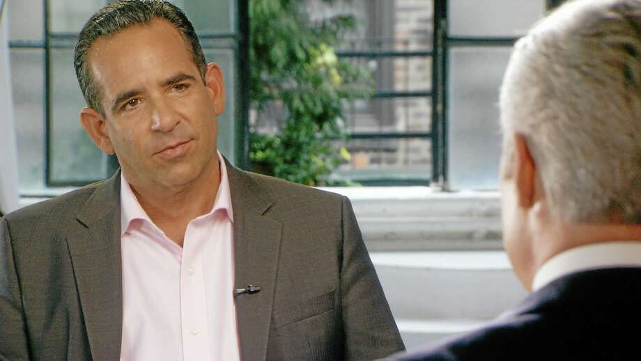 In this undated image taken from video and provided by 60 minutes, Biogenesis founder Anthony Bosch, left, talks with 60 Minutes correspondent Scott Pelley. On Sunday, Jan. 12, 2014, 60 minutes will air an interview with Bosch explaining how he provided Alex Rodriguez with performance enhancing drugs during Rodriguez's relationship with Biogenesis. An arbitrator ruled Saturday that Rodriguez, NY Yankees' third baseman, will have to sit out 162 games for his illegal use of performance enhancing drugs. (AP Photo/60 Minutes) Photo: AP / CBS