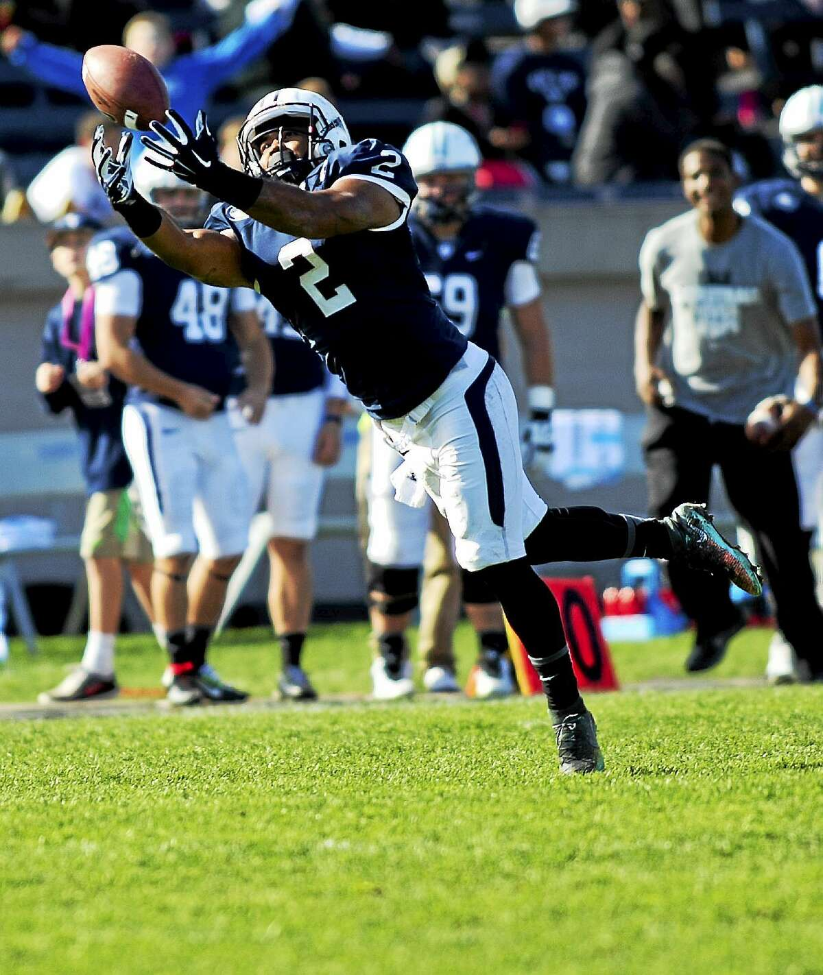 Receiver Deon Randall was one of many Bulldogs who helped spoil East Haven native Al Bagnoli's final game at the Yale Bowl as the Penn coach. The legend will step down following the season.