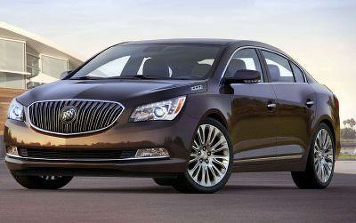 The 2014 Buick LaCrosse will have an updated exterior that includes wing-shape LED lighting and new interior that includes a luxury package with semi-aniline leather seats and Tamo Ash trim.