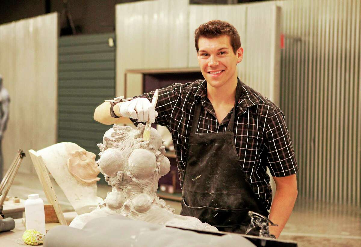 """Tyler Green, 26, had to put his skills to the test during weekly challenges on SyFy's """"Face Off."""""""