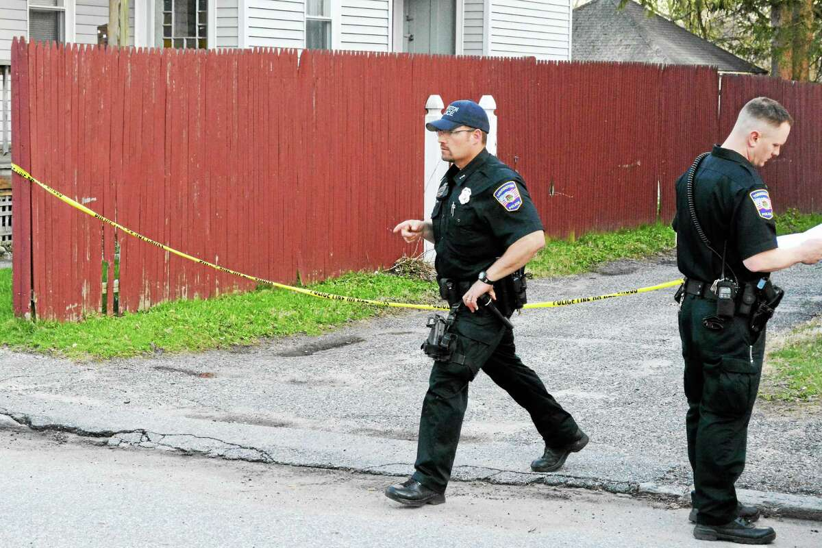 Police roped off the driveway of an Alvord Street home where the victim of an alleged assault was found bleeding from the head Thursday evening.