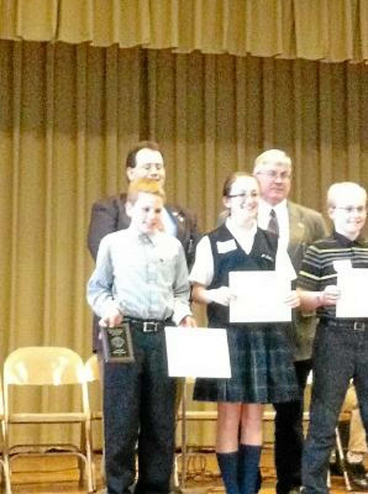 """Submitted photo. Bohden Arndt won the sixth grade regional spelling bee with the word """"kaleidoscope."""""""